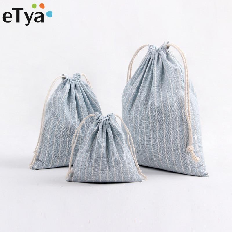 etya-women-stripe-drawstring-bag-travel-reusable-foldingcosmetic-underwear-shoes-organizer-clothes-pouch