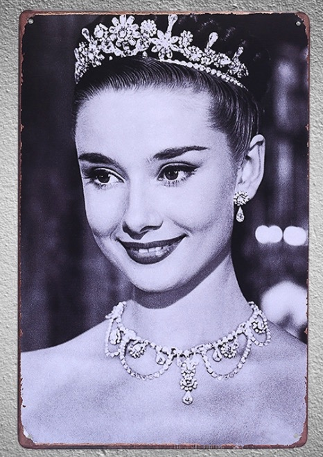 1 pc Hollywood Actress cinema movie film Tin Plate Sign wall man cave Decoration Man cave Art Poster metal vintage home in Plaques Signs from Home Garden