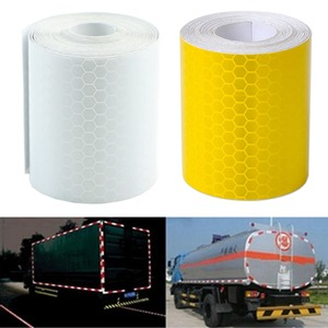 Image 1 - 1Pc Colorful Argento Bianco Riflettente di Sicurezza di Avvertimento Conspicuity Tape Autoadesivo della Pellicola