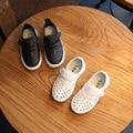 2017 primavera peas novas crianças sapatos brancos de Sandália sapatos meninos e meninas sapatos de couro sapatos de skate 26-30