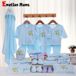 Emotion Moms 29PCS/set newborn baby girls clothes cotton 0-6months infants baby girl boys clothing set baby gift set without box