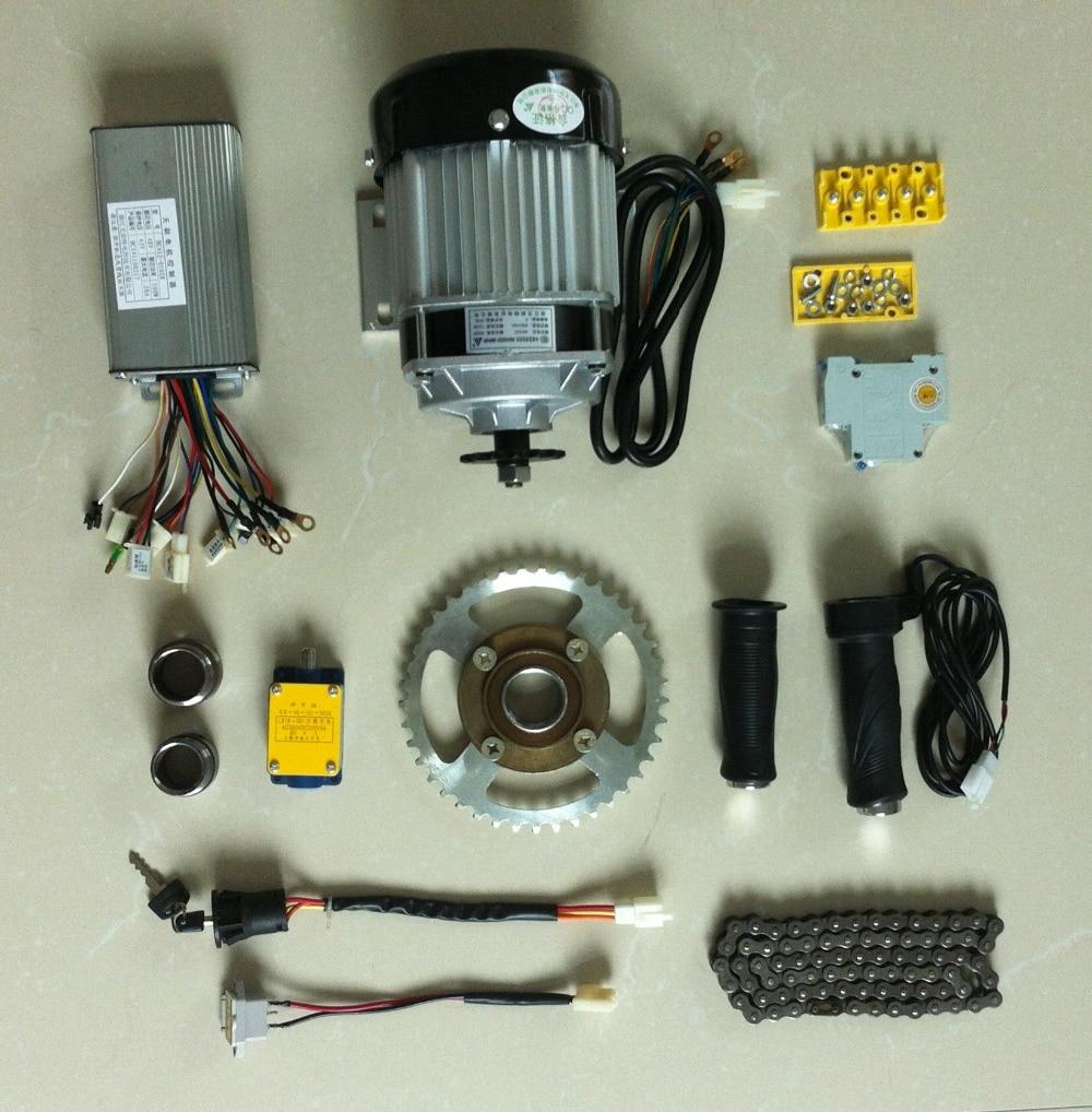 Dc 48v 500w brushless motor electric bicycle kit for 12v 500w dc motor