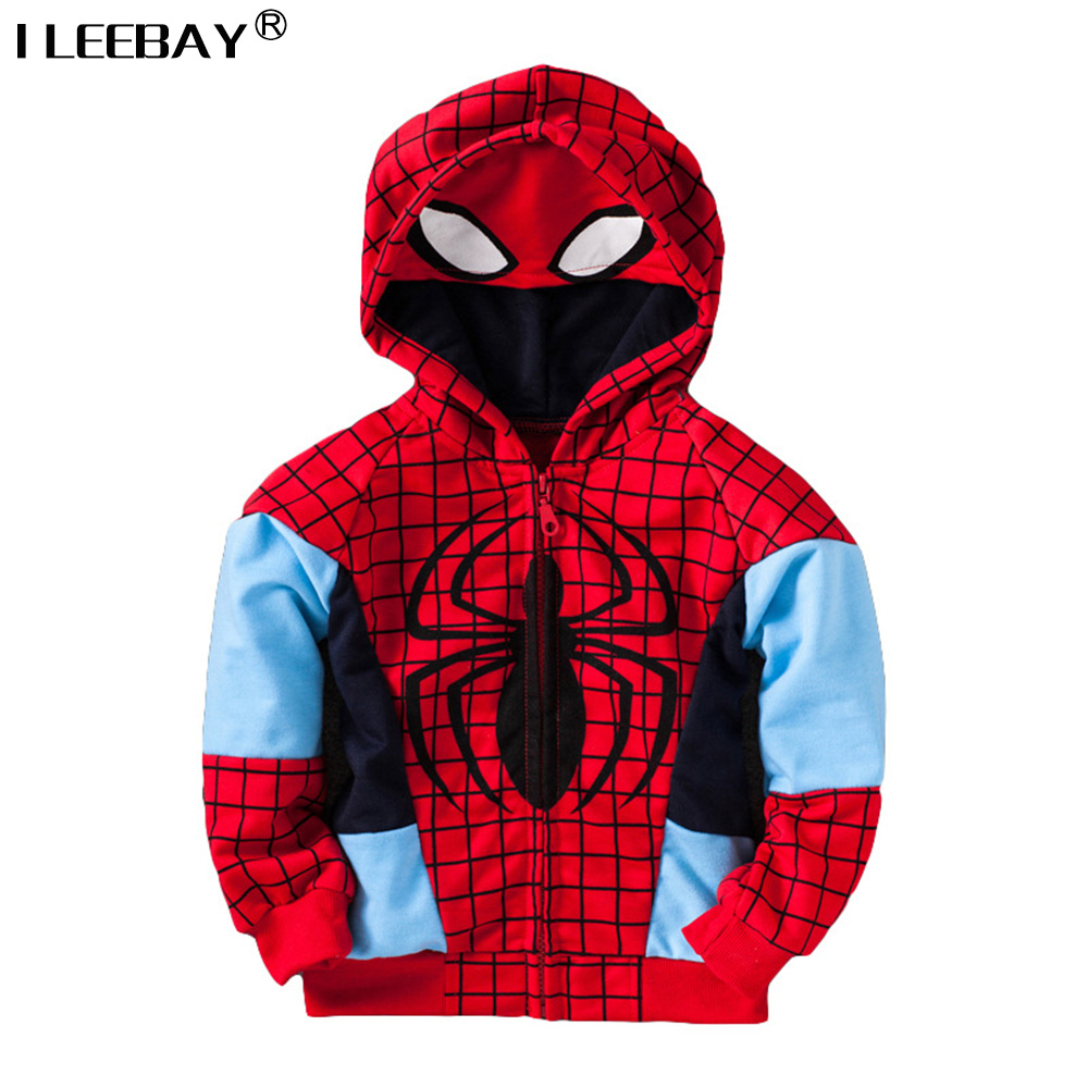 New Boy Spring jacket Kids Spiderman Coat Children Outerwear Toddler Fashion Cartoon Zipper Hoody Sweatershirt Baby Boy Clothes