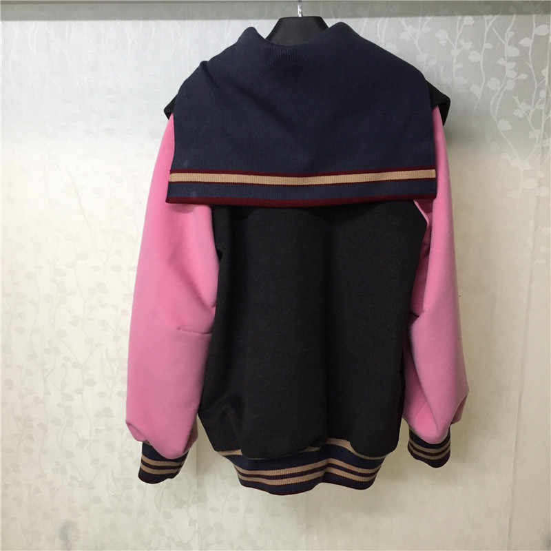 Brand Sports Coat Women  New Arrivals Wool Coats Fashion V-Neck Outwear Blends Jacket For Women
