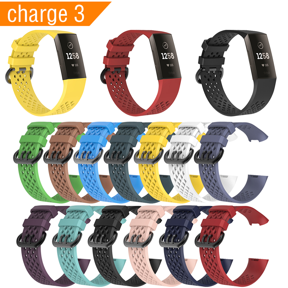 New 13 Colors Silicone Starp For Fitbit Charge 3 Band Smart Watch Accessories Wristband for