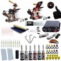 Tattoo Kit Professional Complete Tattoo Kit 2 Machine Guns Inks Needles Tattoo Power Supply