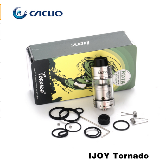 100% Original IJOY Tornado Tank 2-Post Deck RDTA 5ml Capacity Top-filling Tank with 510 thread rebuildable Atomizer rdta