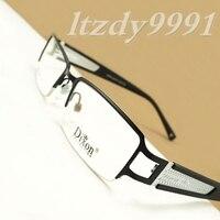 Black&White Metal Rectangular Half Rim Optical EYEGLASSES FRAMES Men Glasses RX D7016 Eyewear