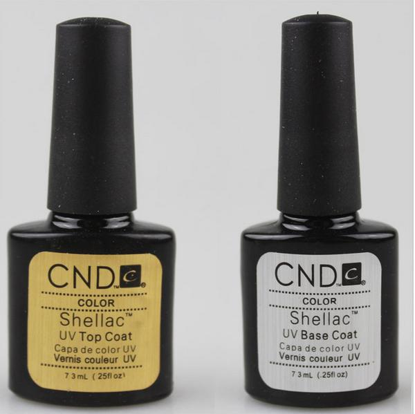 Free shipping HOT SALE CND New Shellac UV Gel Polish Base Coat gel Top Coat .25oz/7.3ml bonder uv topcoat cnd creative play gel 493 aquaslide