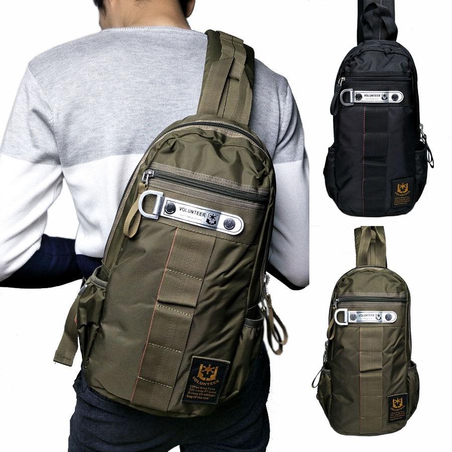 Men's Waterproof Oxford Sling Chest Bag High Capacity Military Travel Riding Cross Body Messenger Shoulder Back Pack Packet