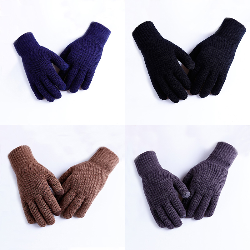 Men winter Warm Knitted Glovess