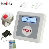 SmartYIBA LCD Temperature Detector Mobile Phone Control Home GSM Alarm System SOS Call Elderly Care Alarm Home Safety Security