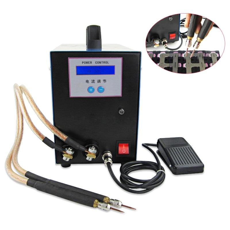JL 18650 lithium battery spot welding machine with LED display handheld welding machine high power spot