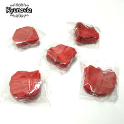 Розовые лепестки Kyunovia, 500 шт., аксессуары для свадьбы, украшения из искусственной ткани