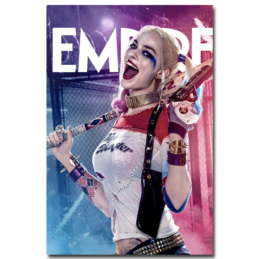 Suicide squad dc superhero silk poster 13x20 24x36inch for Harley quinn bedroom ideas