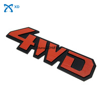 Car Tail Rear Side Metal 4x4 RC Car 4WD Sticker 3D Chrome Badge Car Emblem Badge