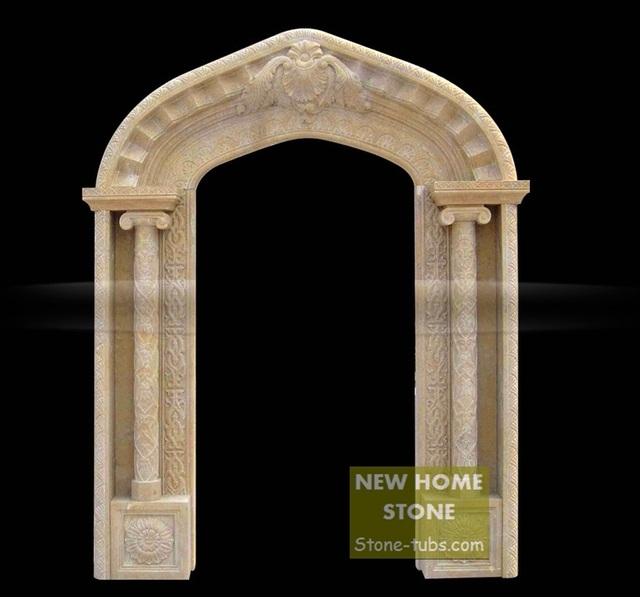 Arch Door Frame 2015 NHS Company Innovative Stone Door Frame Italy Roma  Style Luxury Stone Carved