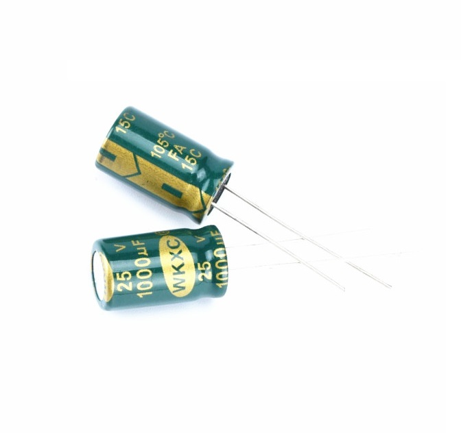 10 pcs Electrolytic Capacitors High Frequency 25V 1000UF 10X20MM Aluminum Electrolytic Capacitor 1 470uf semiconductor plug electrolytic capacitors set black 120 pcs