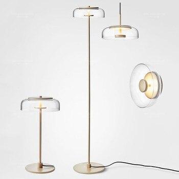 Modern Metal LED zemin lambası İskandinav Cam Zemin Lambası Oturma Odası Için Okuma Abajur Sanat Otel Ev Zemin Aydınlatma G991