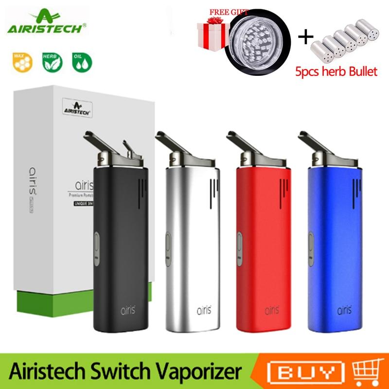 Cigarette électronique originale Airistech Airis commutateur vaporisateur sec 2200 mAh batterie en céramique chambre Vape stylo