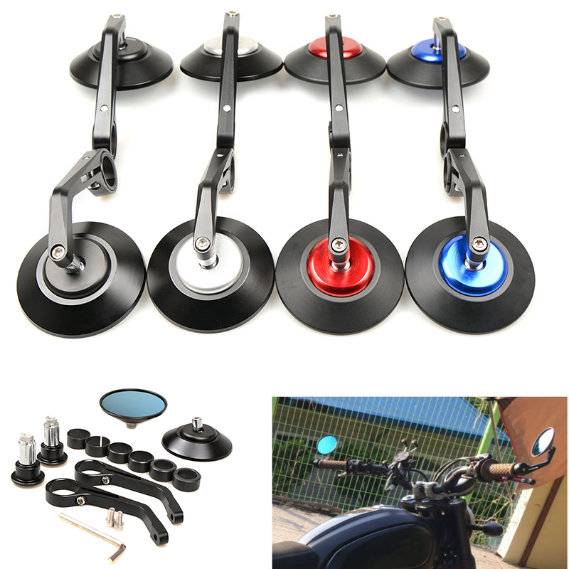 Universal Round Handlebar Aluminum Alloy Motocycle Rearview Mirrors Moto End Rear Side Mirror Motorcycle for yamaha KTM BMW ATV