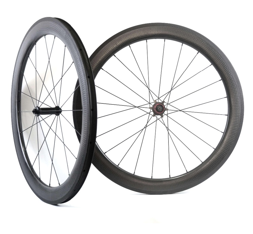 NSW 404 dimple surface 700C full carbon fiber road bicycle wheelset 26mm width 58mm depth wheels