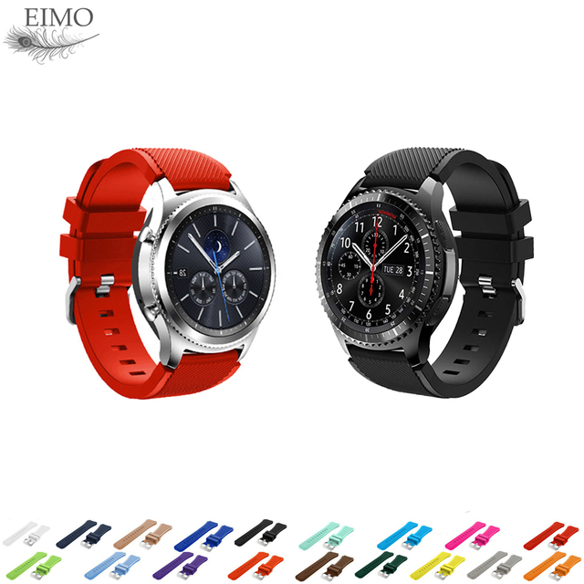 EIMO Sport silicone Strap for samsung Galaxy watch gear s3 Frontier/Classic band