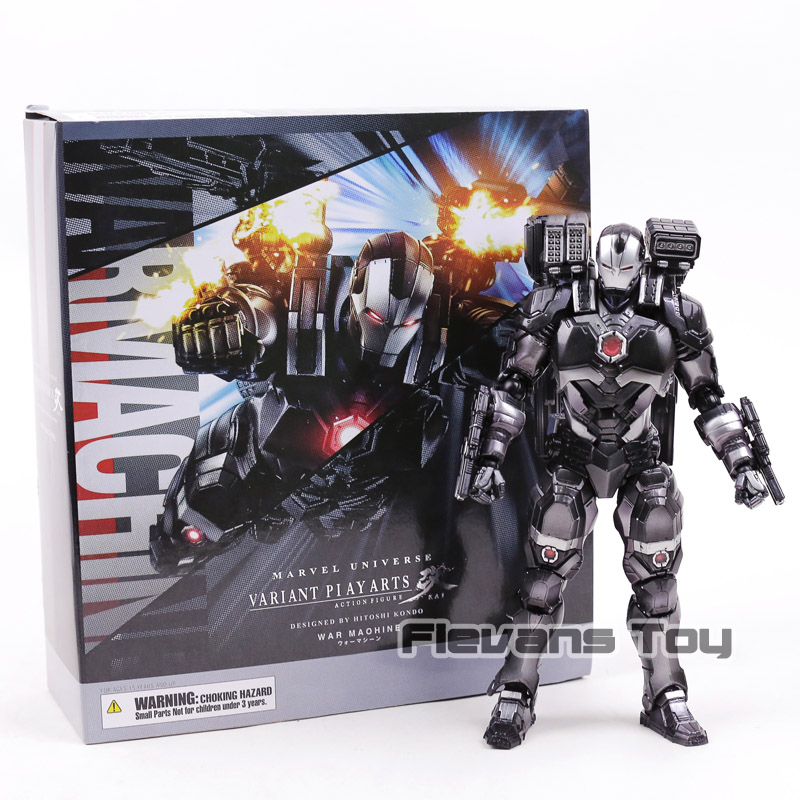 Square Enix Marvel Universe Variant Play Arts Kai War Machine Action Figure Collectible Model Toy huong anime figure 28 cm square enix variant play arts spiderman spider man pvc action figure collectible model toy brinquedos
