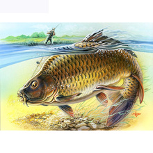 H1437 diamond painting full drill,5d painting,5d diy big fish