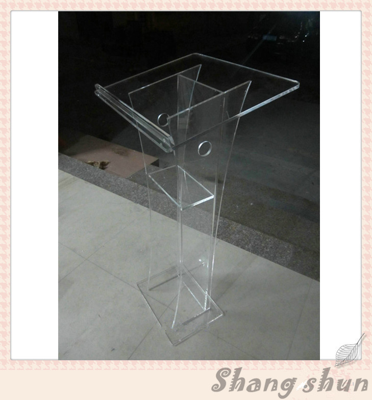 Church Lectern Acrylic Church Podiums Crystal Acrylic Lectern Office Furniture Podium Glass Pulpit For Church decompression anion pu leather non allergy bracelet silver black coppery