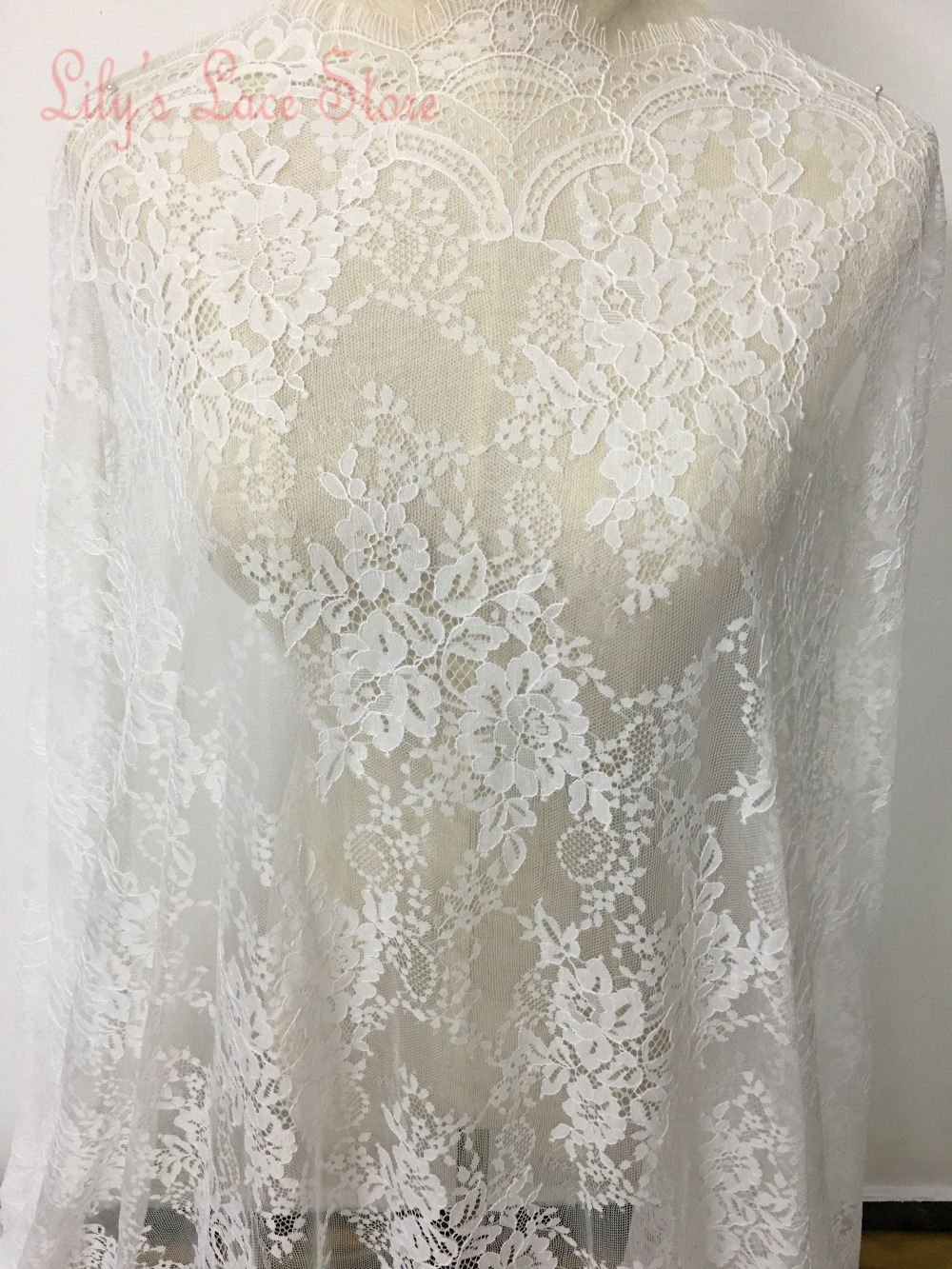 2015 super fashion bridal lace fabric for wedding dresses high 2015 super fashion bridal lace fabric for wedding dresses high grade 100 nylon eyelash chantilly lace fabric wholesale discount in lace from home garden ombrellifo Choice Image