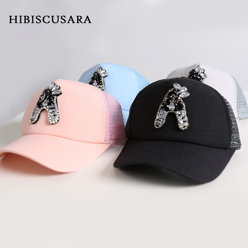 39d3c4e6850 Fashion Baby Baseball Cap Rhinestone Letter Decoration Boy Girl Snapback Hat  Peaked Cap Toddler Kids Summer Sunhat Topee-in Hats   Caps from Mother    Kids ...