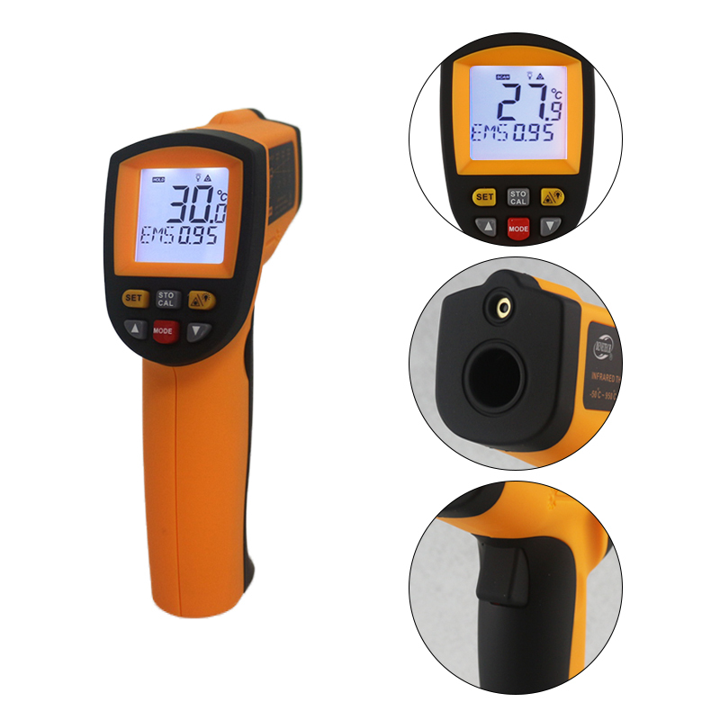 GM900 berührungslose Temperatur meter-50 ~ 950C-58 ~ 17422F Pyrometer 0,1 ~ 1EM Celsius IR Infrarot-thermometer