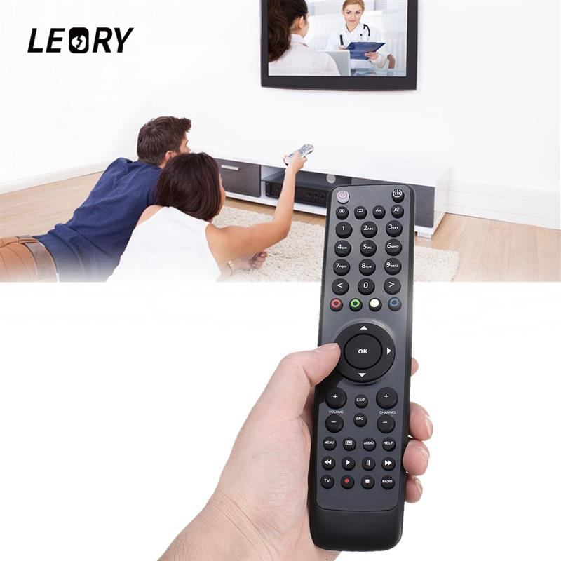 LEORY Replacement Remote Control With Light Satellite Receiver For VU+ SOLO 2/meelo se/vu solo2 se SAT TV Set-top BOX satellite set top box remote control for dream box 8000 800 black 2 x aaa