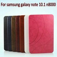 Oirignal Cubierta Elegante Del Caso Del Soporte Magnético de Cuero de Lujo para samsung galaxy note n8000 n8010 10.1 Para Galaxy Note 10.1 caso