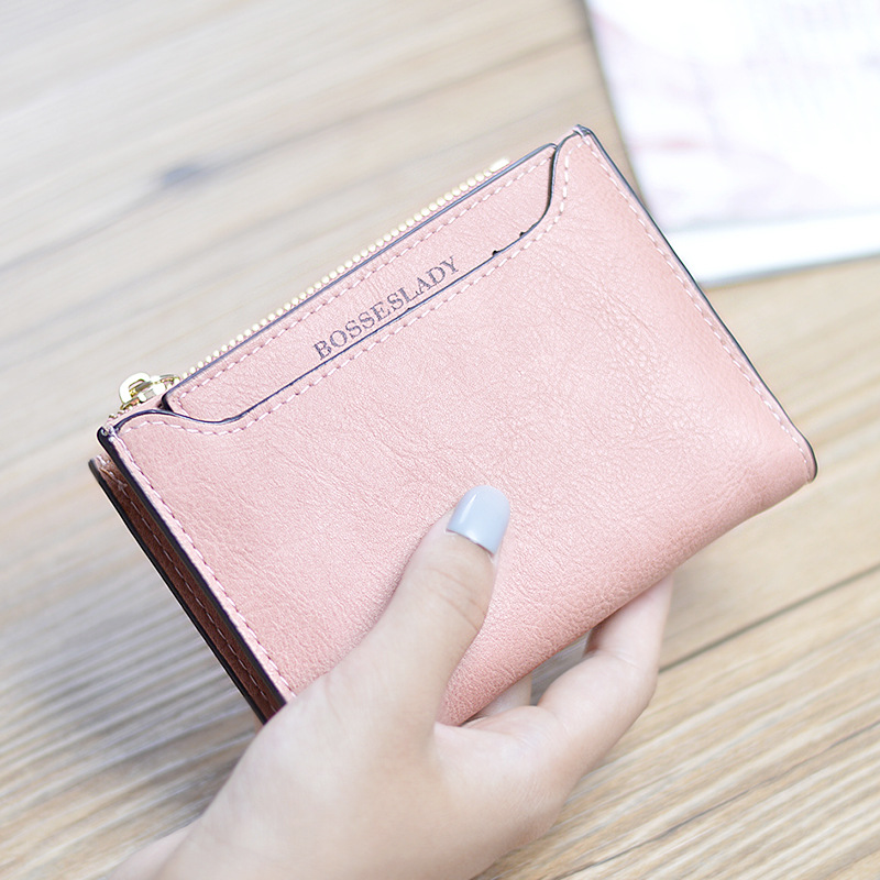2017 New Arrival! Fashion Women Short Wallet Simple Design Purse Clutch Bag Hasp Business Card Holder Coin Bags