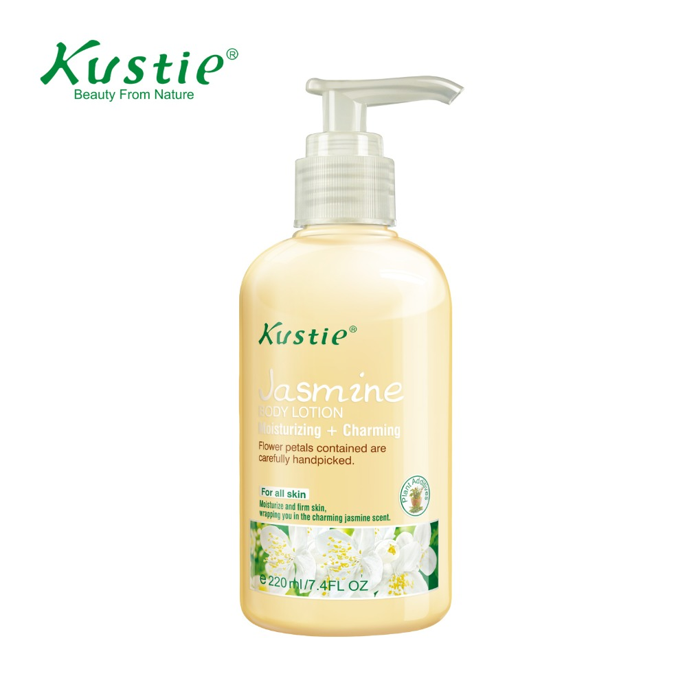 Kustie Skin Care Moisturizing & Skin Lightening Oil Jasmine Day Night Body Lotion(220ml) logona daily care body lotion organic aloe verbena объем 200 мл