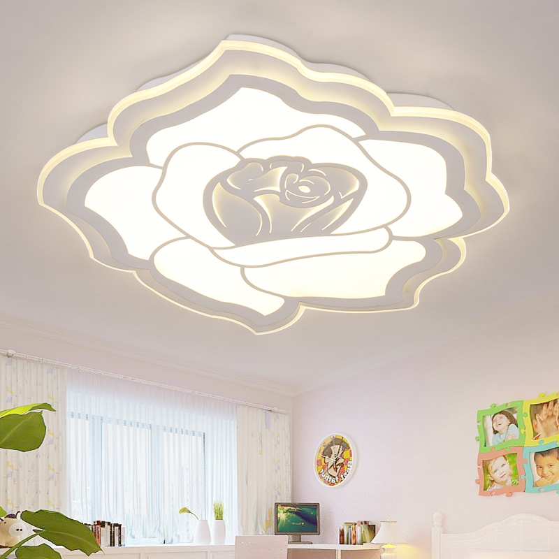 Minimalist Modern LED Chandelier Light Fixture Rose Ceiling for Living room Bedroom LED Lamparas de techo home decor Lighting ceiling lighting minimalist modern balcony study bedroom lighting led intelligent atmospheric living room dining room