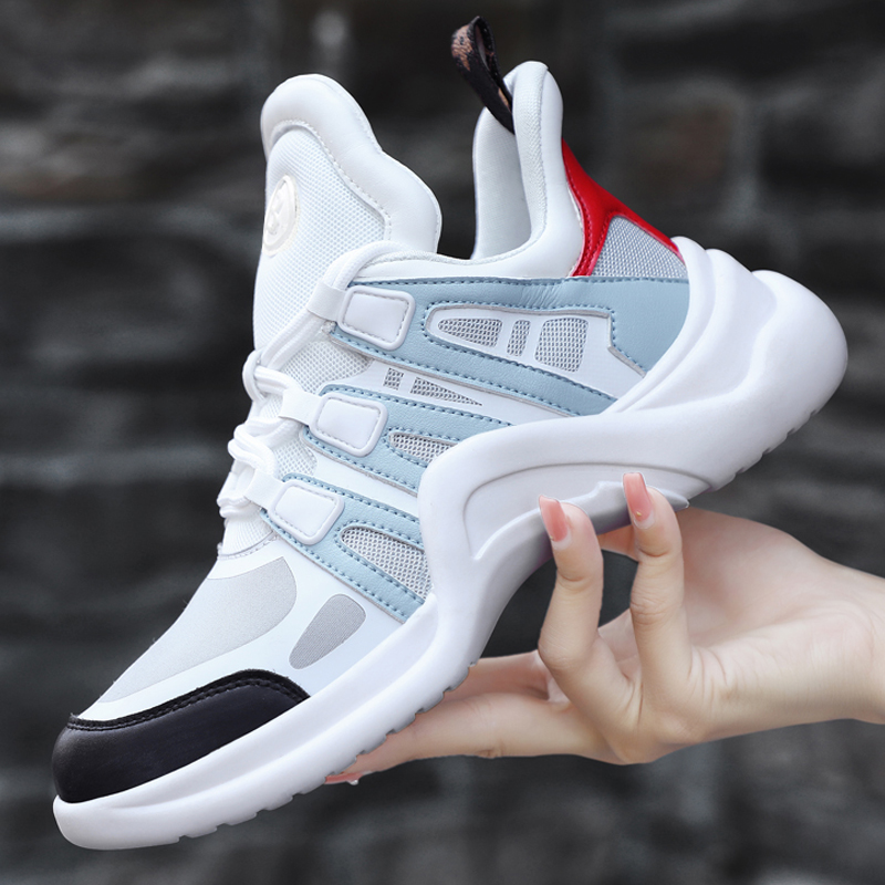 Women Running Shoes Sport Jogging Sneakers Cushion Outdoor Walking Shoes Athletic Ladies Training Mesh Genuine Leather Hombre cross training shoes walking arder shoes for women leather sport shoes soled sneakers allmatch students flat shoes fitness
