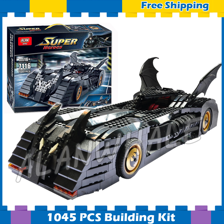 1045pcs Super Heroes Batman Batmobile Ultimate Collectors Edition 7116 Model Building Block Toys Gifts Sets Compatible With lego wrath of the lich king collectors edition eu киев