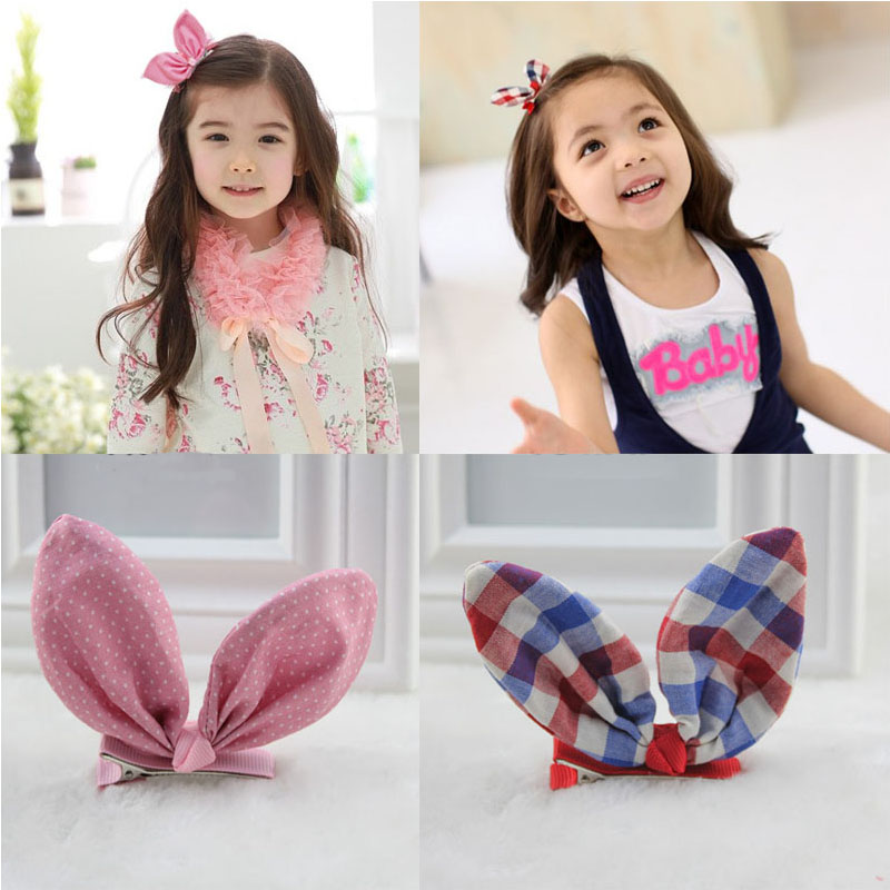 Women Girls Rubber Band Cute Rabbit Ears Bowknot Polka Dot Leopard Floral Hair Rope Ponytail Holder Scrunchies To Ensure Smooth Transmission Girl's Hair Accessories