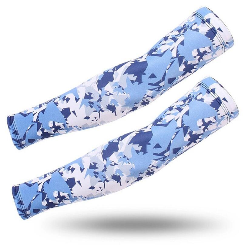 2Pcs/Set Hand Warmer Sun Protection UV Protection Basketball Volleyball Golf Sport Sleeves Arm Bicycles Fishing Arm Camouflage