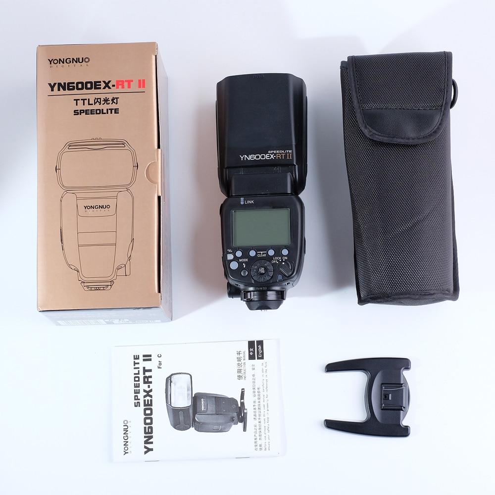 Yongnuo YN600EX-RT II Flash Speedlite for Canon 5D Mark III IV SDR 6D 1DX II 80D 70D 7DCamera yongnuo yn568ex iii wireless ttl sync 1 8000s hss flash speedlite for canon 1dx 1ds 5d mark iii iv 70d 80d 7d 6d 700d 750d