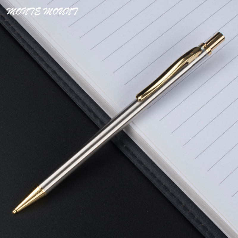 Luxury Writing Metal Pens Gift 0.5mm Nib School Office Stationery Mechanical Pencil Student Gift Business Pen