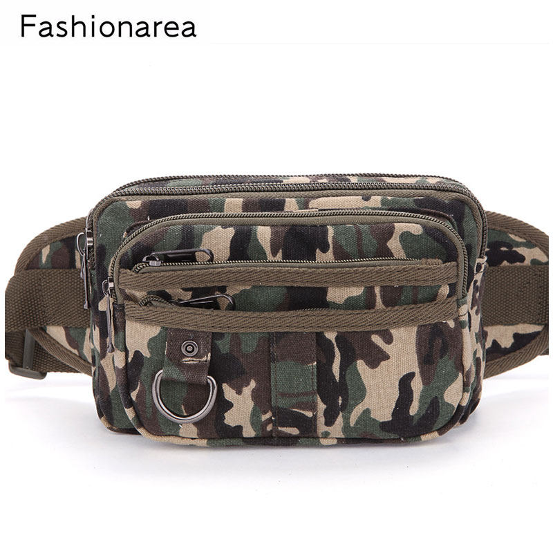 High Quality Mens Waist Pack Ride Travel Camouflage Waist Bag Travel Leisure Fanny Pack  ...
