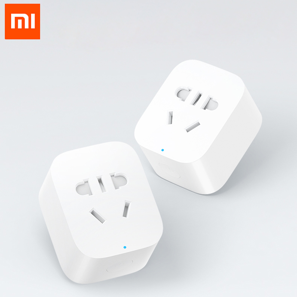 100% Original Xiaomi Mijia Smart Socket Plug WiFi Wireless Remote Socket Adaptor Power On And Off With Phone Drop Shipping