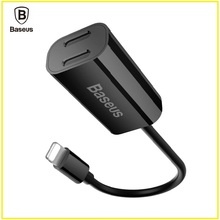 font b Baseus b font 2 in 1 Dual 8pin Female Adapter Cable For iPhone