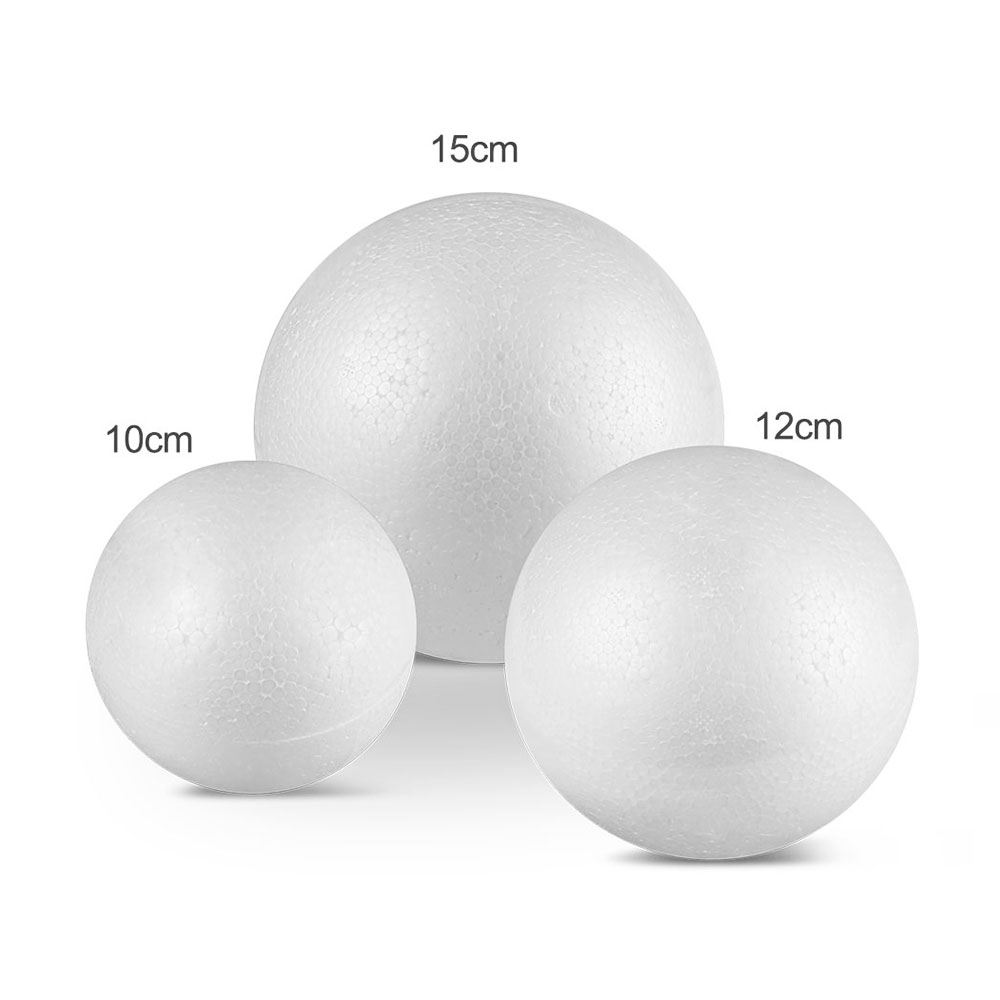 10CM 12CM 15CM Modelling Polystyrene Styrofoam Foam Ball White Craft Balls For DIY Christmas Party Decoration Supplies Gifts DA