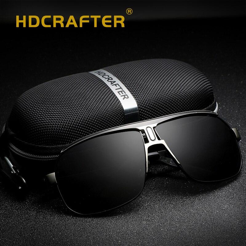 Nouveau lunettes De soleil pilote hommes polarisés UV400 haute qualité mode conduite lunettes De soleil pour hommes Gafas De Sol Hombres Vintage lunettes