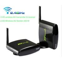2 4G AV Sender Wireless Transmitter Receiver 250meters AV Audio Video TV Transmitter For DVD STB